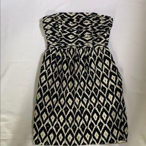 Shoshanna ikat strapless dress